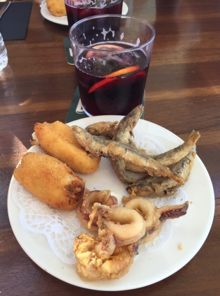 Tapas at the warf in Mallorca
